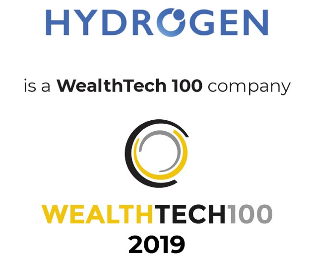 Hydrogen Named to WealthTech 100!