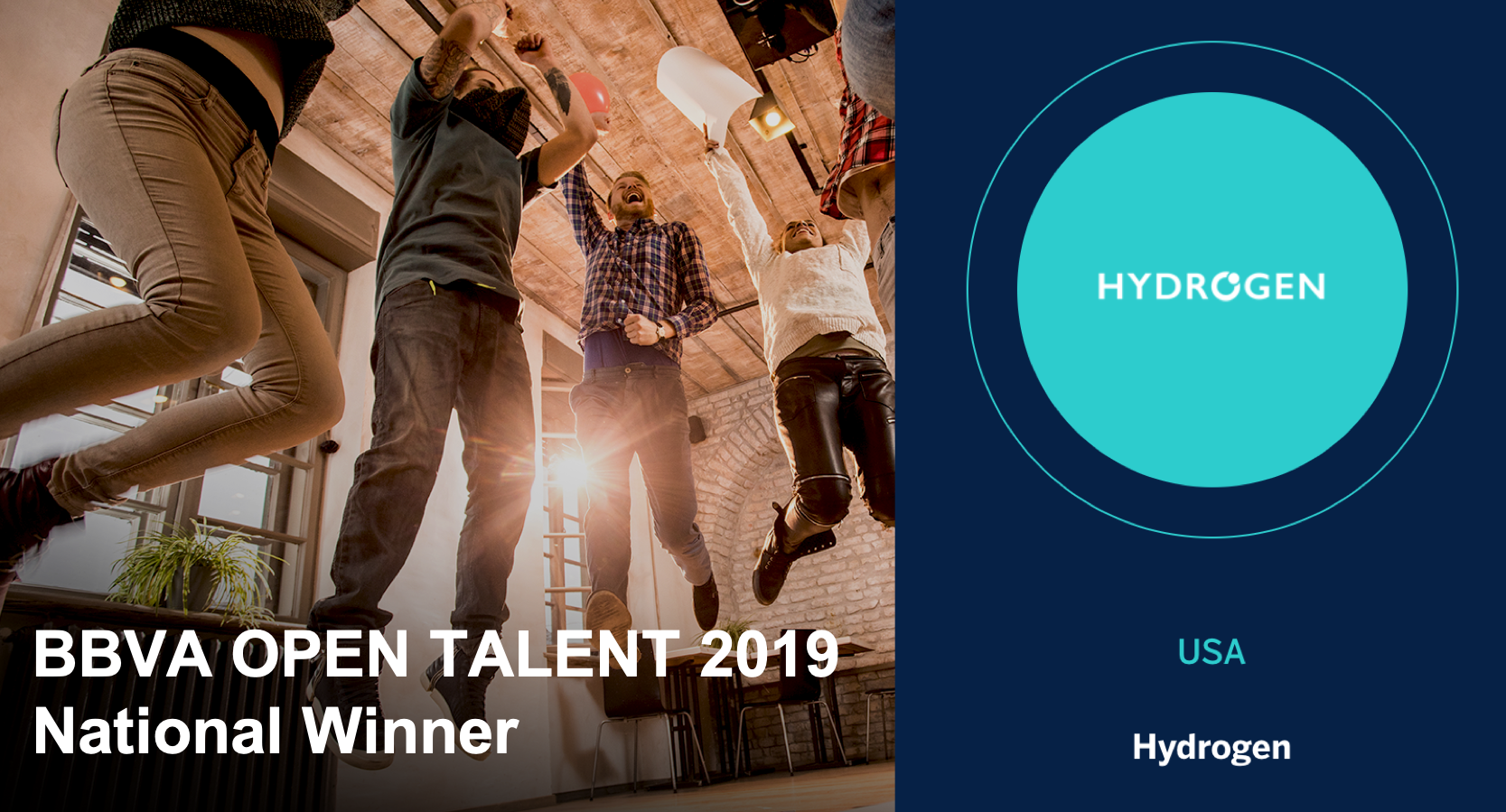 Hydrogen Selected as the BBVA Open Innovation USA National Winner
