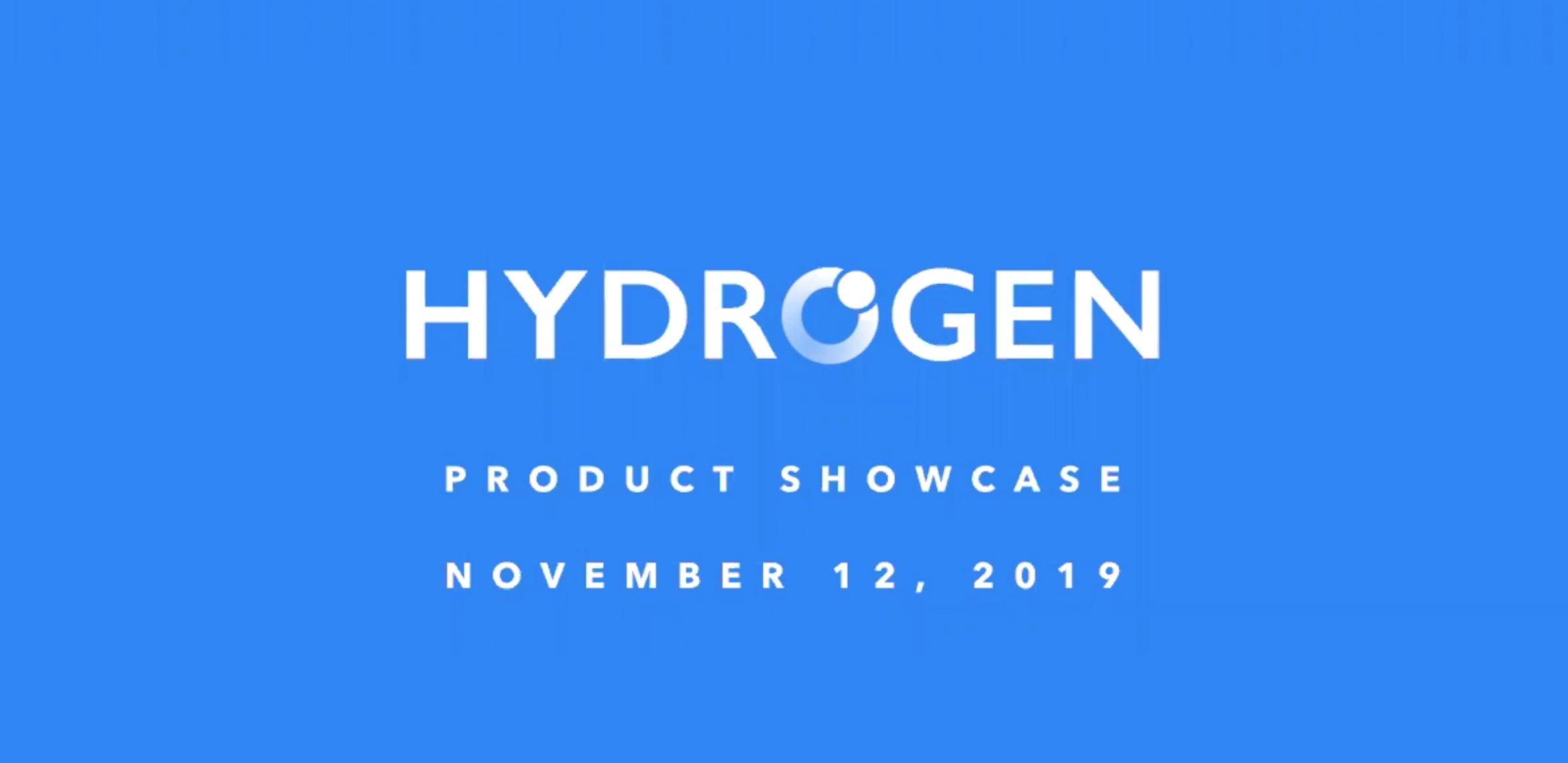 Hydrogen Product Showcase November 2019