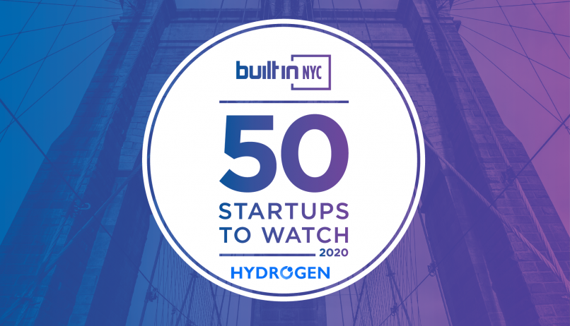 "Hydrogen Named to ""50 Startups to Watch in 2020"""