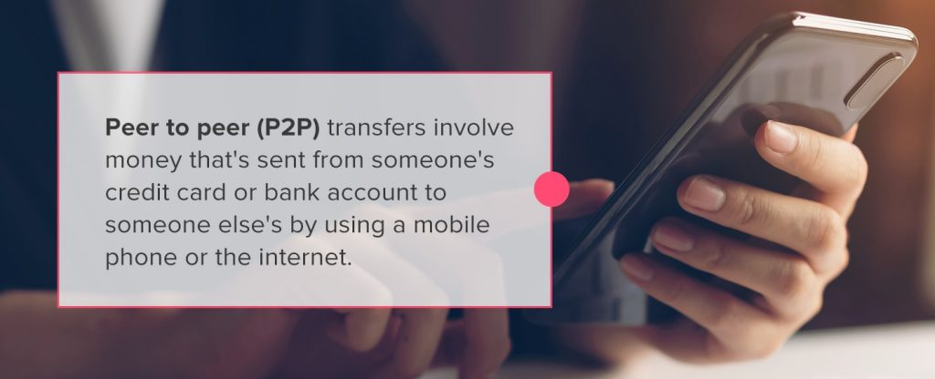 P2P transfers with blockchain