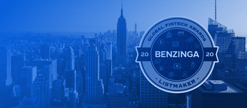 Hydrogen Recognized as a 2020 Benzinga Fintech Listmaker